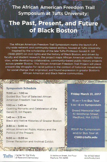 The African American Freedom Trail Symposium at Tufts University