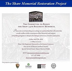 Shaw Memorial Restoration