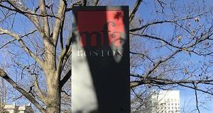 Museum of Fine Arts MFA sign on Huntington Ave